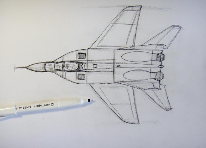 Черной ручкой обведите карандашные контуры