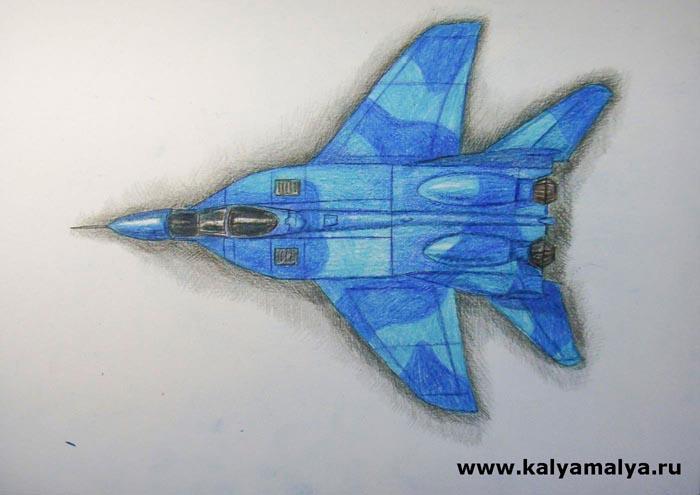 Как нарисовать истребитель МиГ-29?