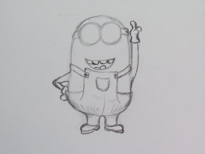 Нарисуйте ножки и ручки