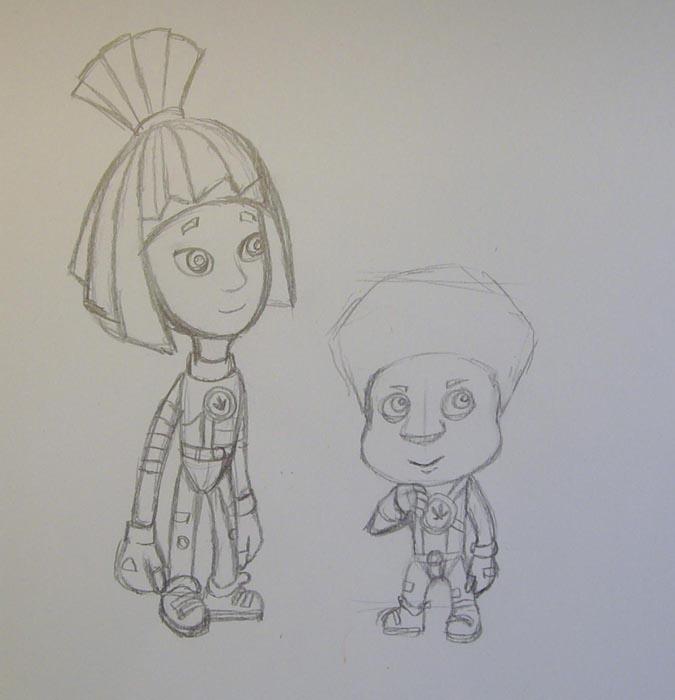 Прорисуйте ручки и ножки персонажа