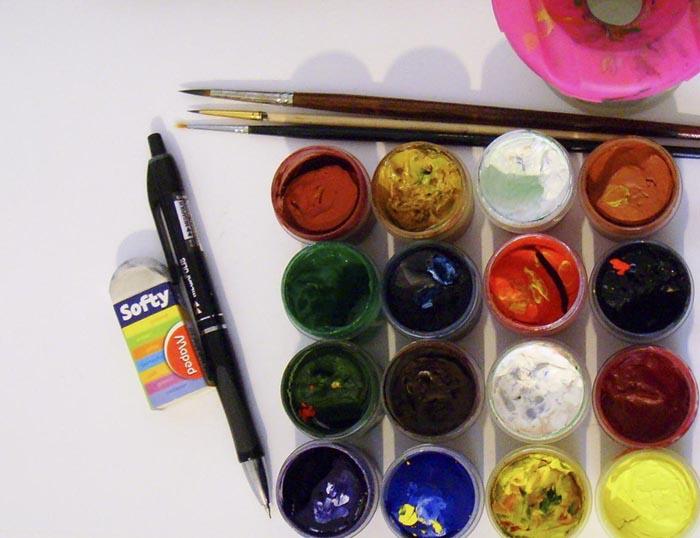 Приготовьте всё, что необходимо для рисования