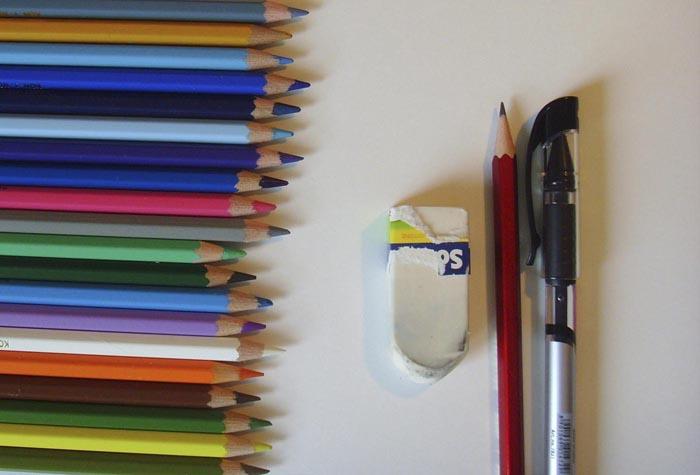 Приготовьте карандаши, бумагу и ластик