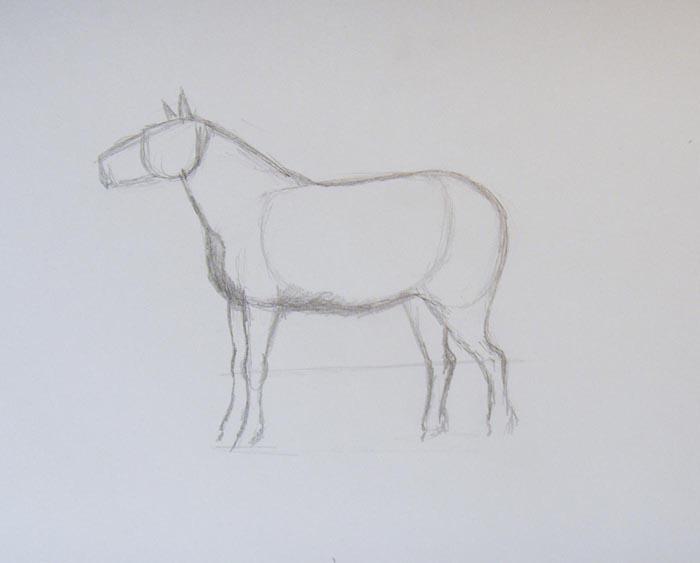 Изобразите голову и уши животного