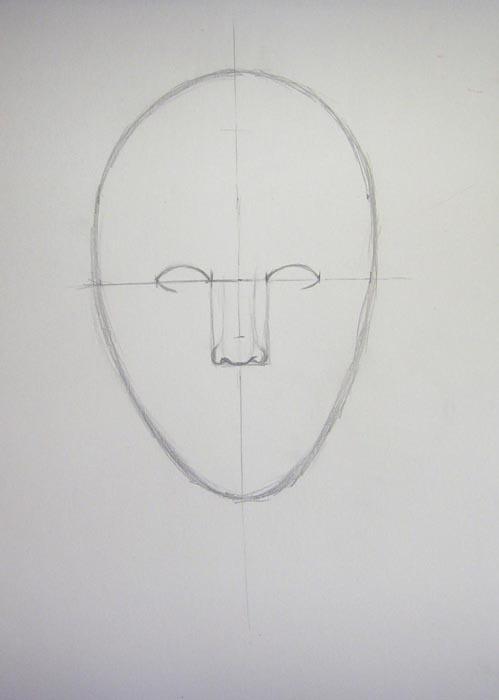 Прорисуйте кончик носа и ноздри