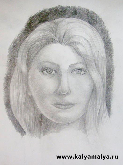 Как нарисовать женский портрет поэтапно?