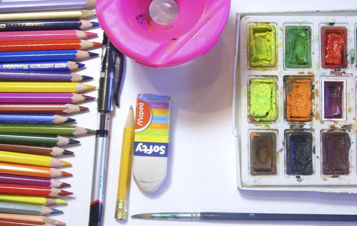 Приготовьте всё что нужно для рисования