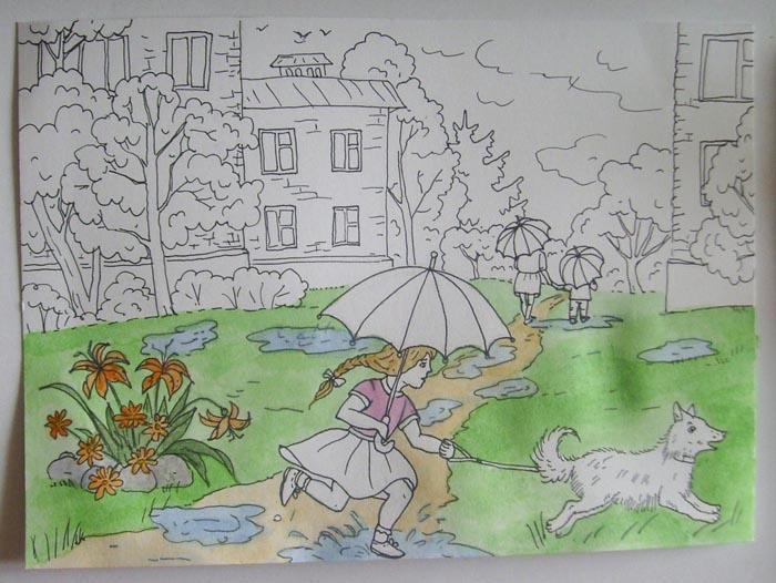 Раскрасьте клумбу и траву