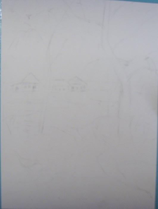 Ластиком сотрите карандашные линии так, чтобы остались лишь легкие линии