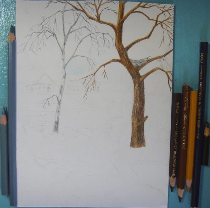 Раскрасьте деревья