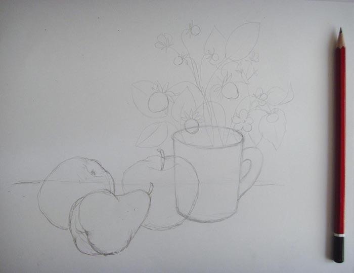 Прорисуйте фрукты более детально