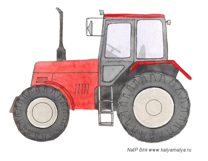 Учимся рисовать. Трактор