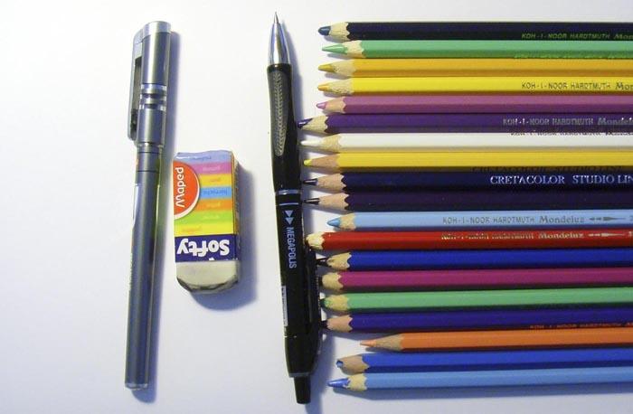 Приготовьте карандаши, начинаем рисовать овощи