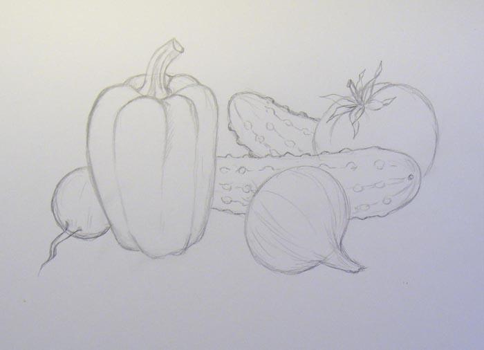 Более тщательно прорисуйте каждый овощ