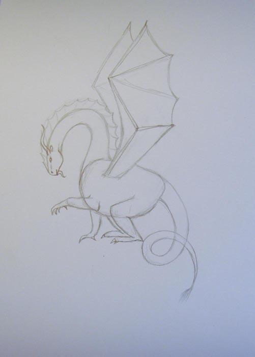 Нарисуйте крылья