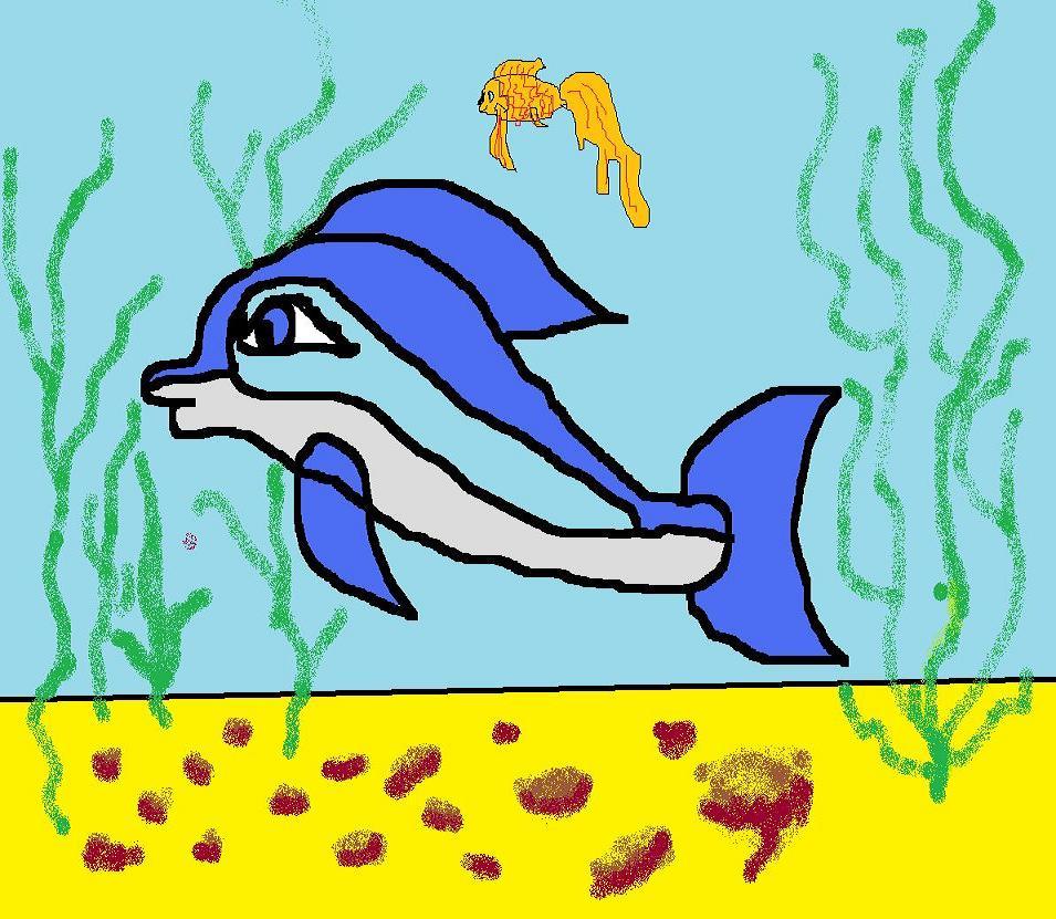 Дельфин и золотая рыбка