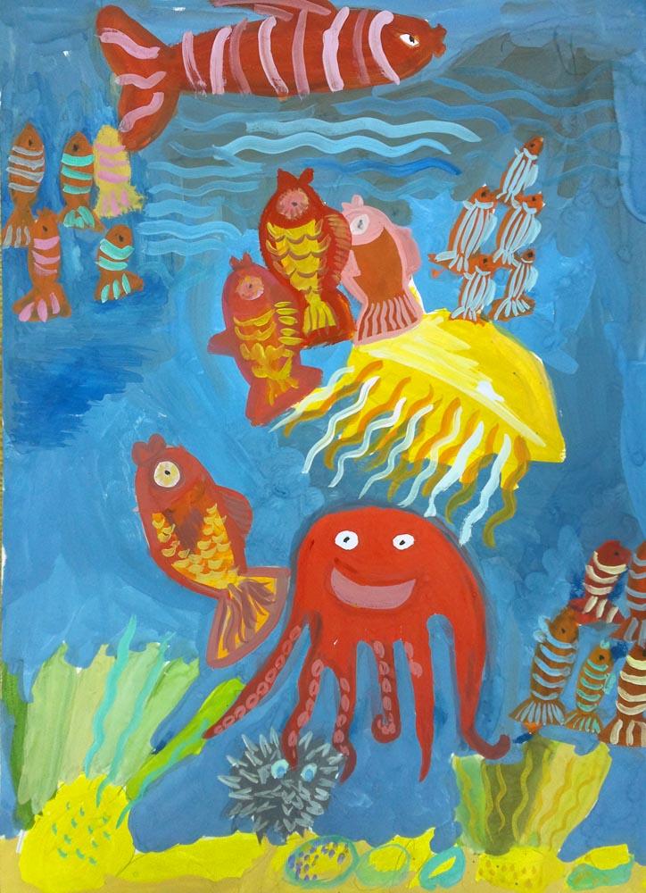 Веселый осьминог