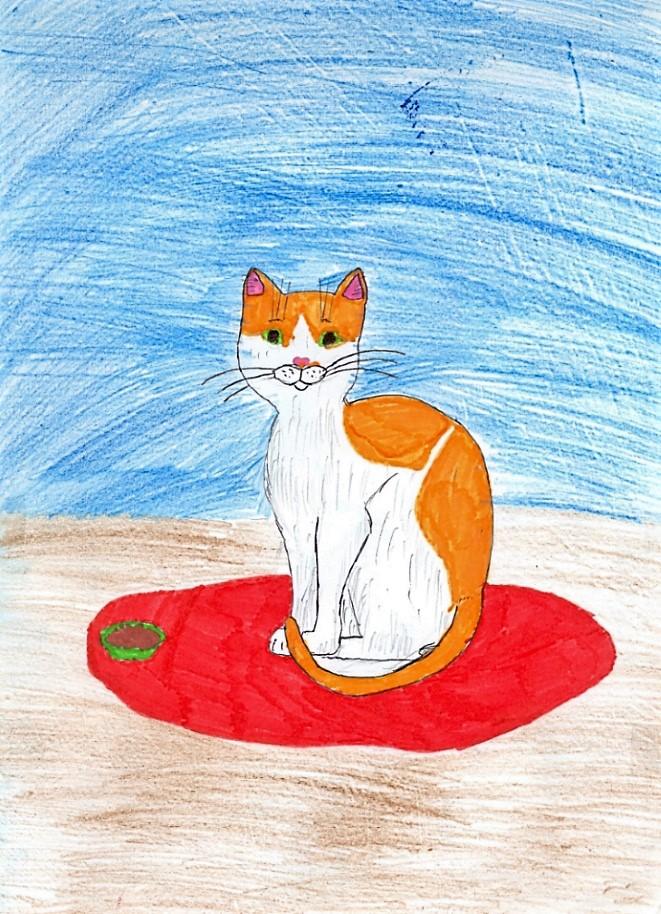 Рыжий котик-обормотик