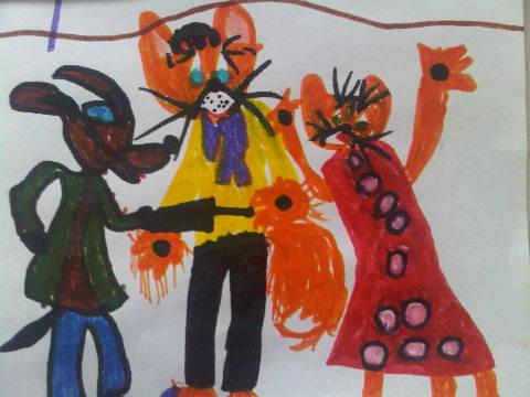 Кот Леопольд и мышата
