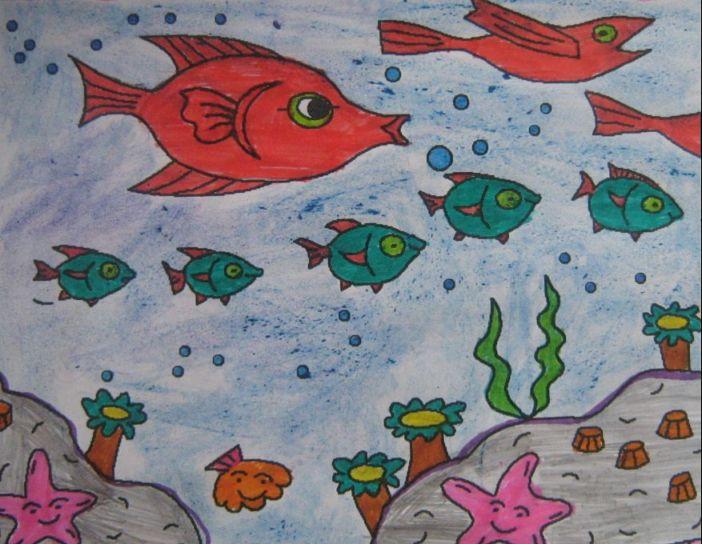 За рисунок рисунок подводный мир