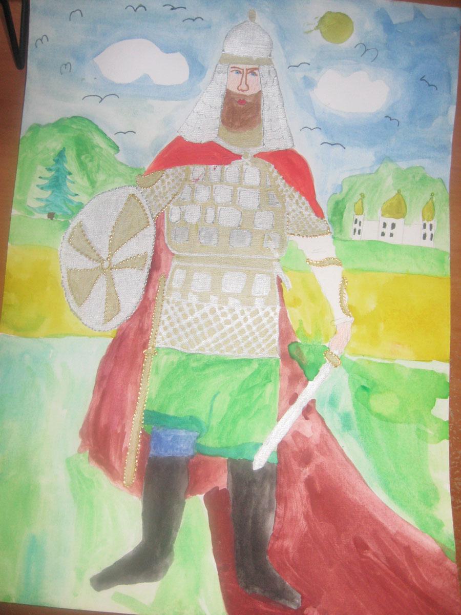 рисунки богатырей: