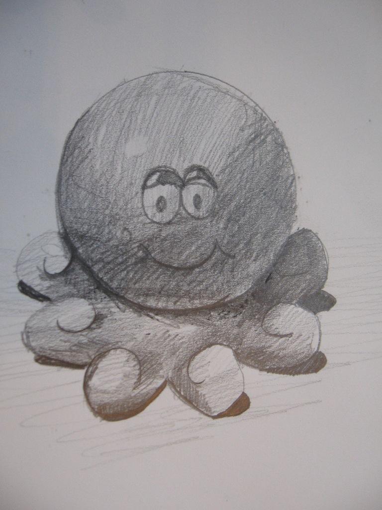 Игрушка - осьминог