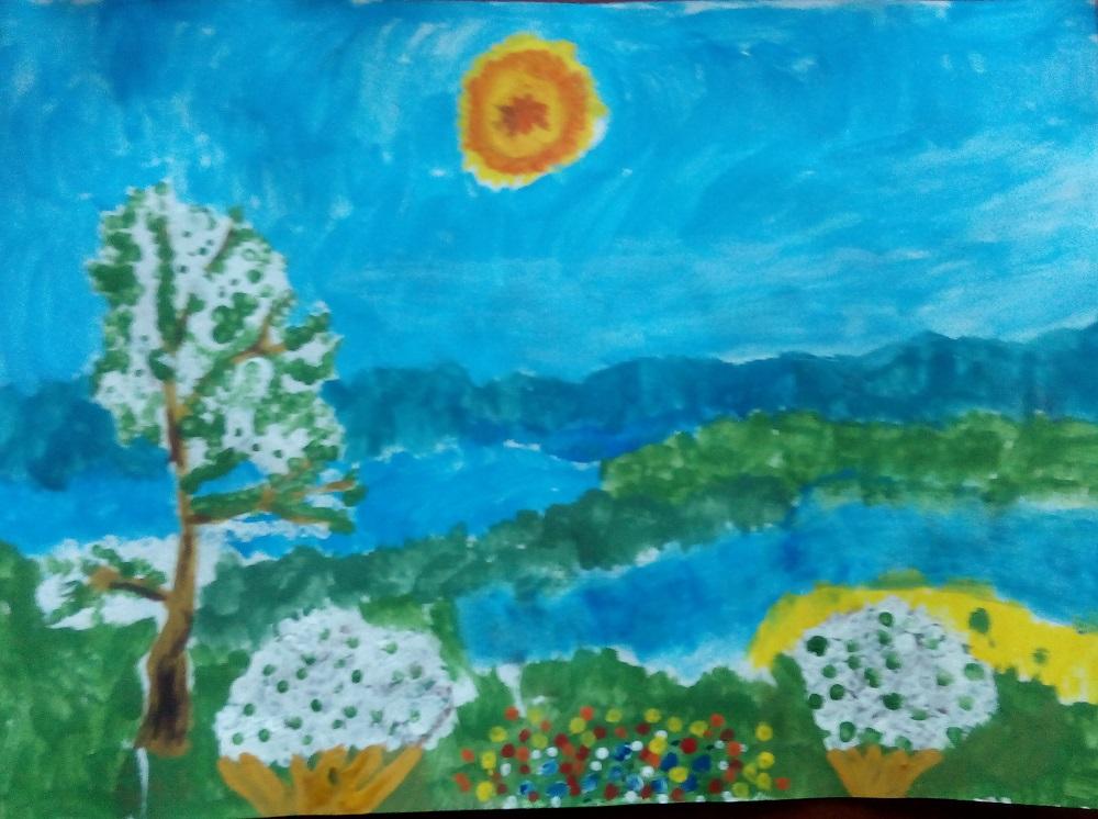 Лето-солнышко в цветочек